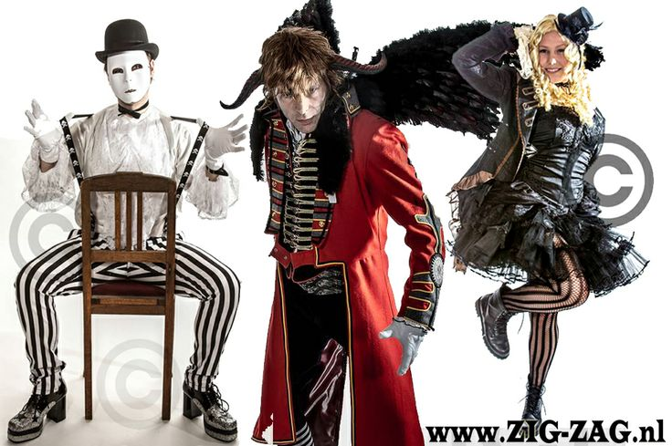 www.zig-zag.nl theater en feest kleding theater and party suply steampunk , burlesque pirate victoriaans top hat hoge hoeden etc carnaval vastelaovend
