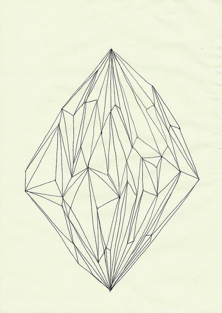 gems. diamante dibujo lineas