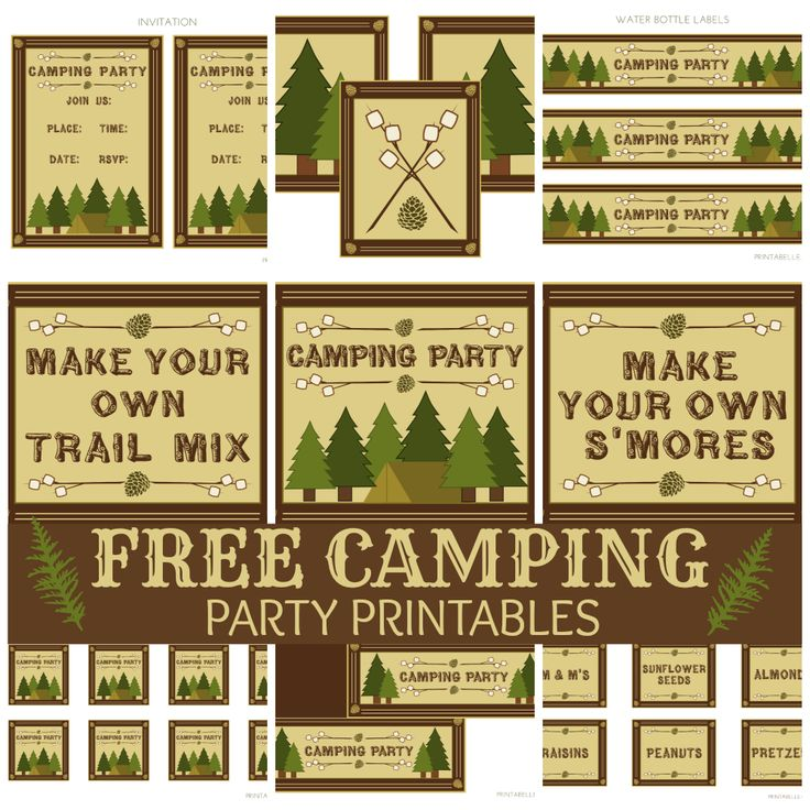 41 best camping party images on pinterest birthdays camping and