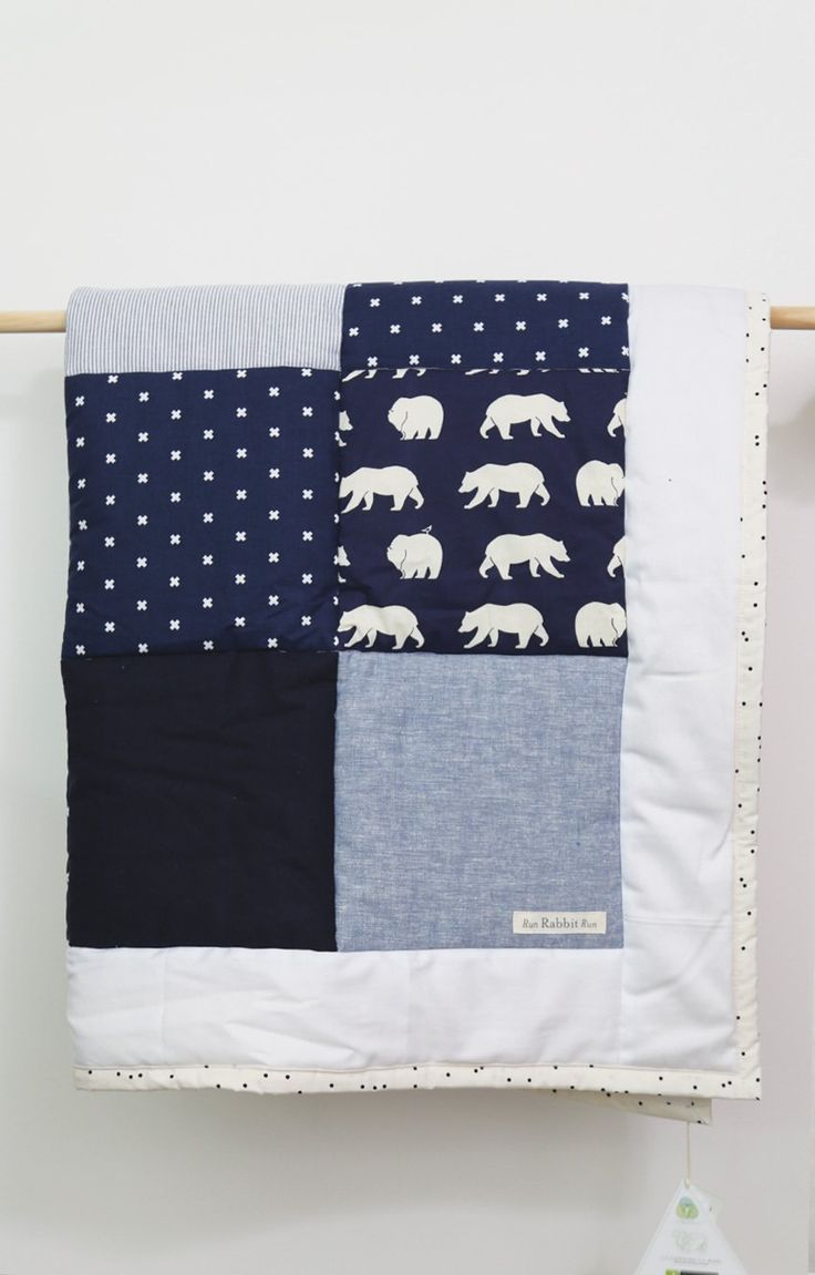 PH Run Rabbit Run - Cot Quilt - Bear Camp Midnight