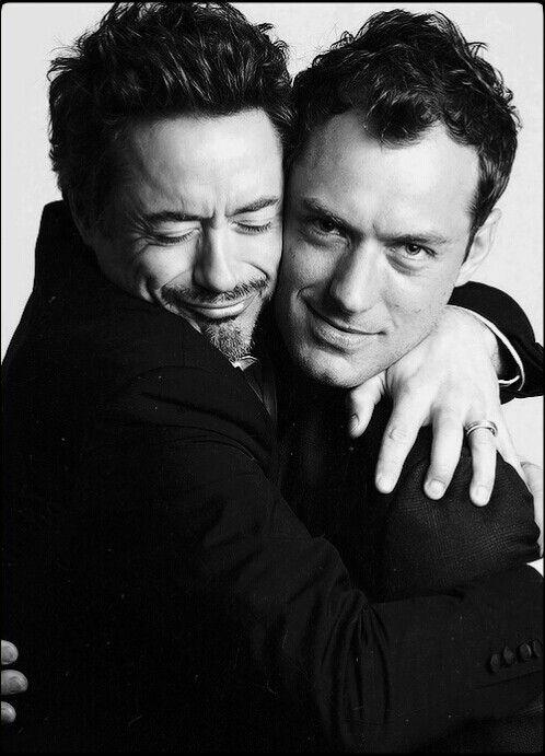 Bromance : Robert Downey, Jr. & Jude Law (a.k.a. Sherlock Holmes & John Watson)
