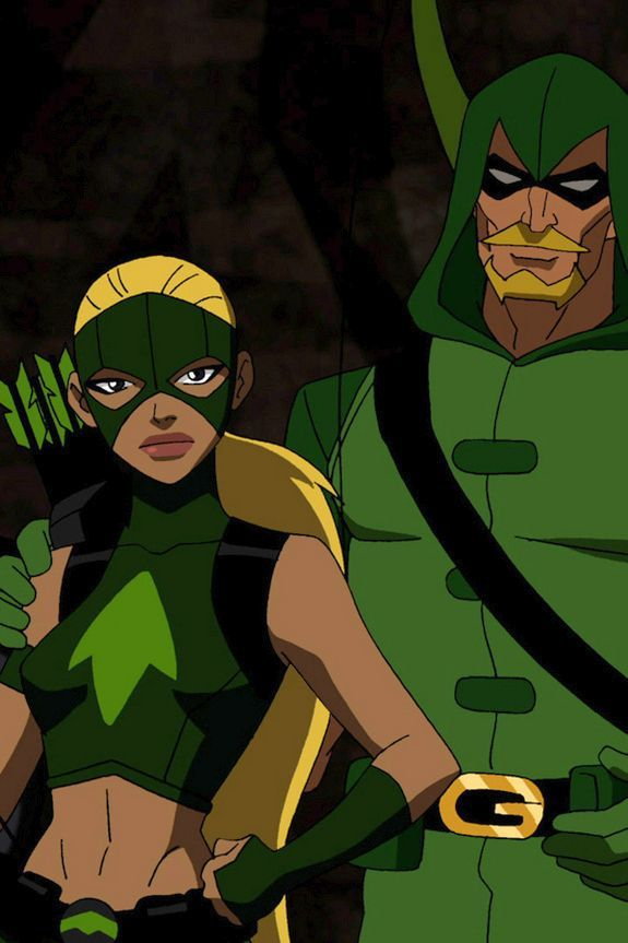 Artemis and Green Arrow from Young Justice