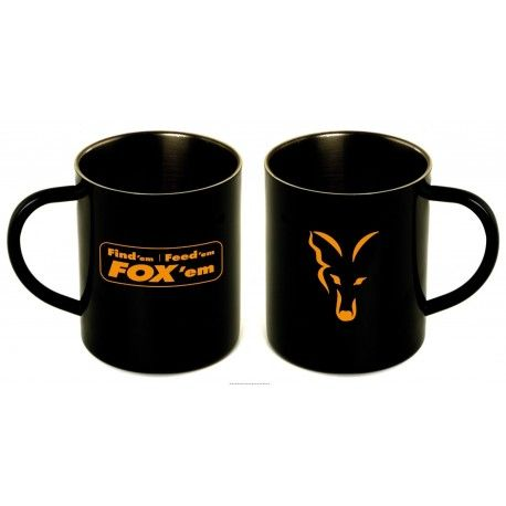 Cana izoterma din inox.Pereti dubli.  Aspect deosebit datorita logoului si sloganului Fox imprimat pe ea.
