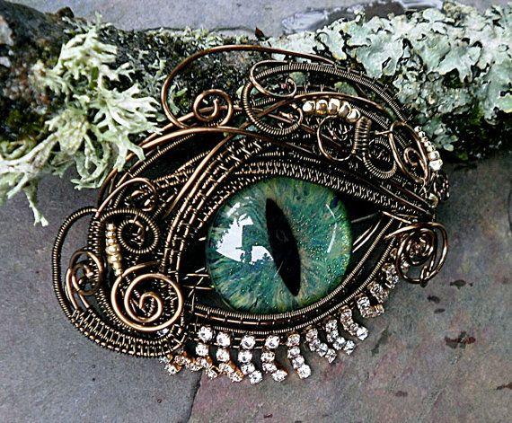 I have the greatest admiration for Jill of Twisted Sister Arts on Etsy. She is by far one of the greatest Artisans, I have had the honor of knowing. I own one of her Gothic Steampunk Eyes. Gothic Steampunk Bronze Evil Eye Pin by twistedsisterarts, $149.95