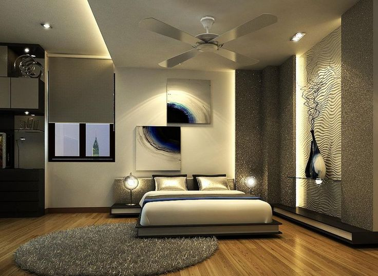 fantastic contemporary bedroom design and lighting1
