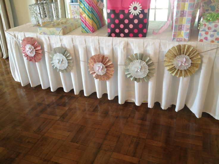 DIY Pinwheel Banners For Gift Tables Baby Shower DIY