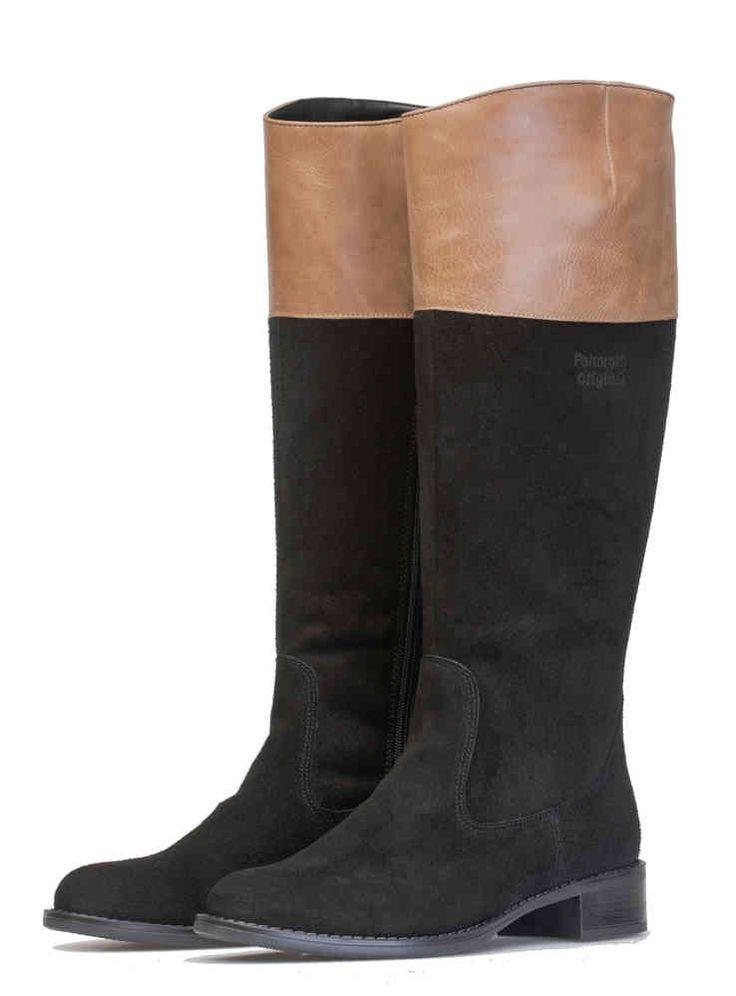 Palmroth boot black/beige waterproof suede - Palmroth Shop
