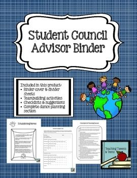 "Whether you are starting a new student council group, organizing your existing group, or looking for new ideas, this binder organization set can put you on the right path.This Student Council Binder Set Includes:Binder Cover Pages: ""Forms,"" ""Building Community,"" ""Leadership Lessons,"" ""Effective Work Groups,"" ""Dances,"" and ""Fundraisers,"" ""Spirit Week,"" ""Class of the Year Competition,"" ""Community Involvement,"" ""Advisor Planning and Reflection,"" ""Effective Meetings."" Effective Work ..."