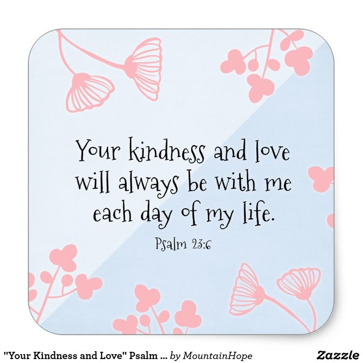 """""""Your Kindness and Love"""" Psalm 23 Stickers"""