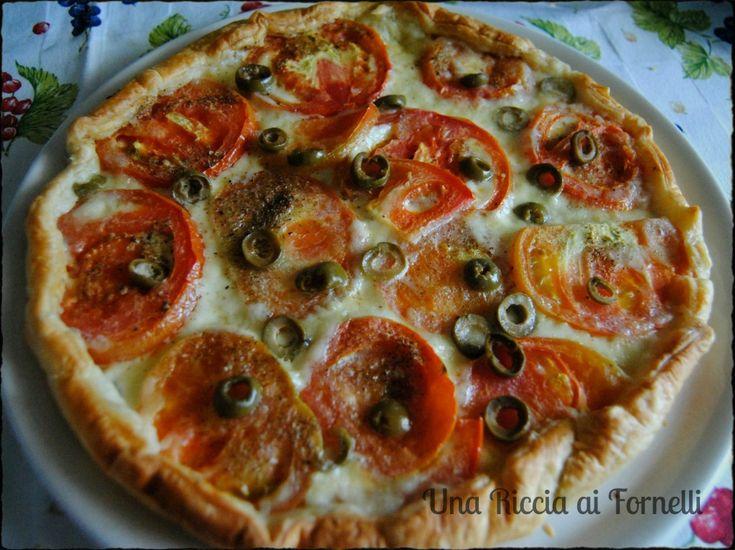 Torta rustica mediterranea, ricetta microonde - Una Riccia ai Fornelli