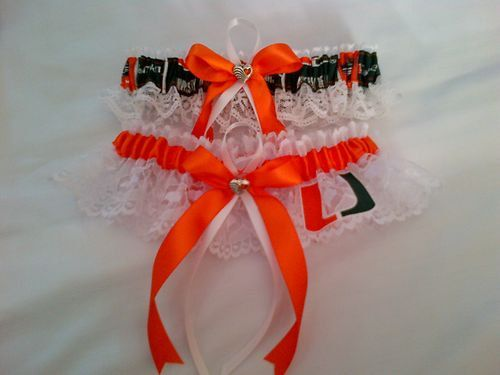 Wedding Garters U of Miami Hurricanes fabric garter any size color or style.. $19.99, via Etsy.