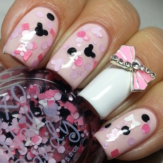 U 241 as on pinterest nail art ideas para and minnie mouse nail art