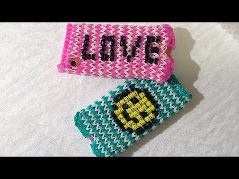 Rainbow Loom Iphone/Ipod hoesje met charger hole, Smiley or letters, Dee...