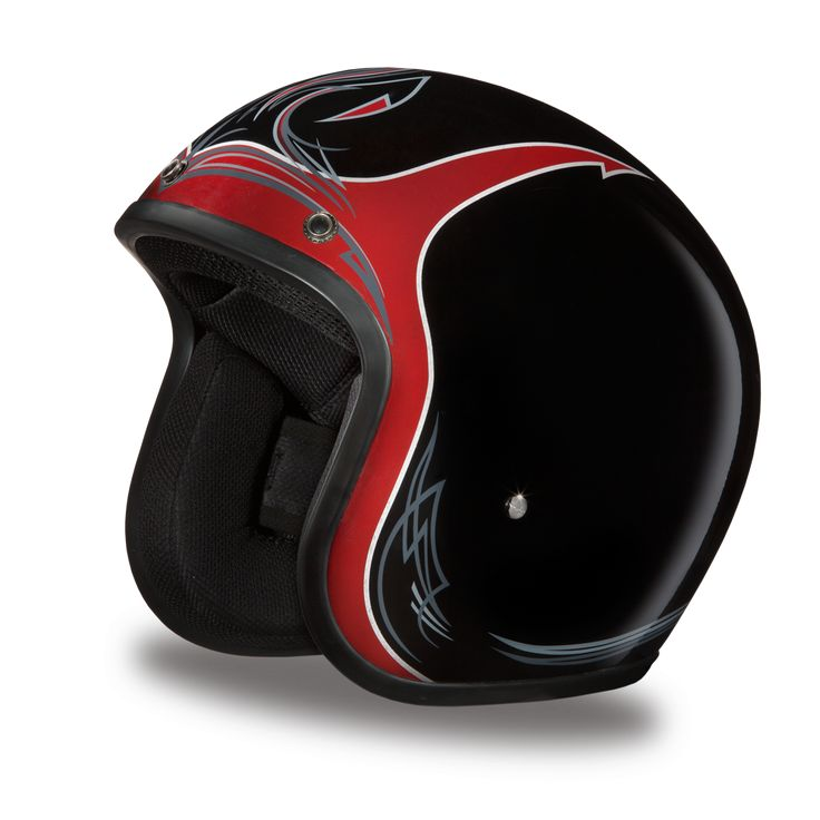 Daytona Cruiser 3/4 Helmet - Pinned Black Cherry