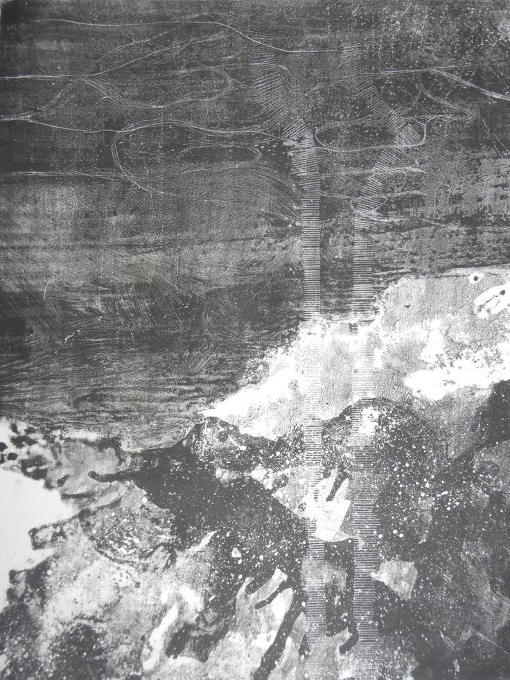 Erina Kawachi(Japan)   Michi 72.3×52.4 cm (48×38 cm print) Lithography   2013