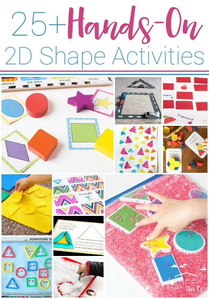25+ Awesome Hands-On 2D Shape Activities for Kids. Games, activities, free…