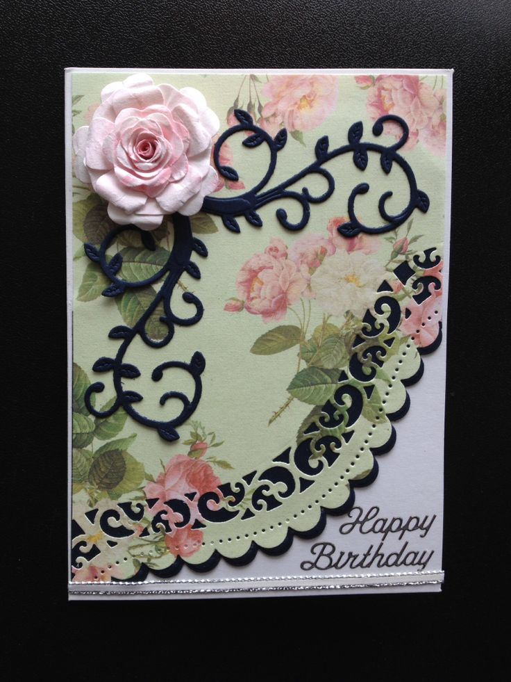 Spellbinder die cut birthday card
