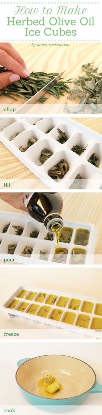 Herbed Olive Oil Ice Cubes
