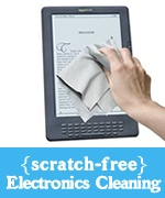 e-cloth specialty microfiber for safe electronics screen cleaning on iPad, iPod, Kindle, Nook, e-readers and tablets.