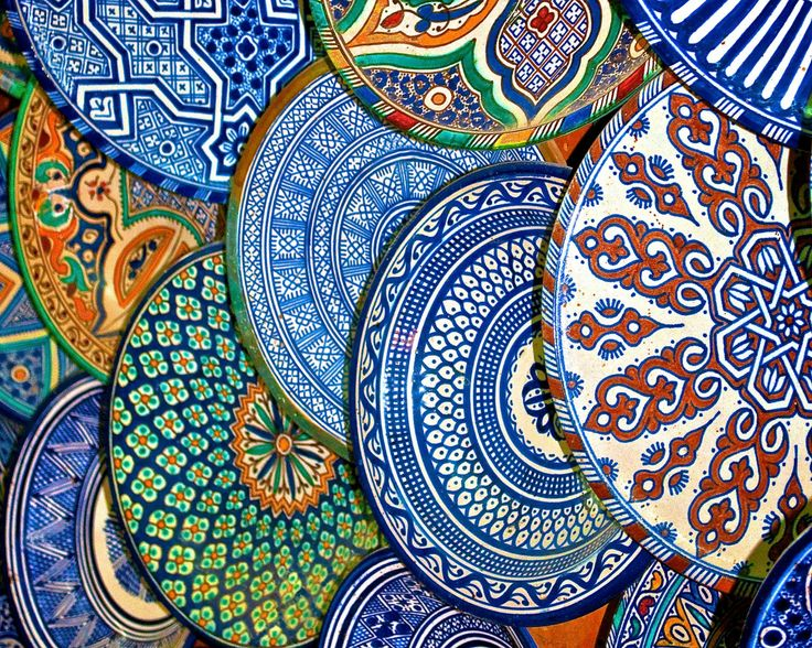 The Plate Market, Marrakech, Morocco. I wanted to bring home one of each! Unfortunately, the tagine I did bring home arrived with broken top!