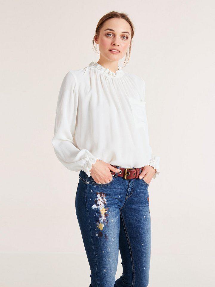 35a8d8aee9b0fa heine CASUAL Bluse mit Rüschen für 29,99€. Trageangenehmes Material mit  Vintage-