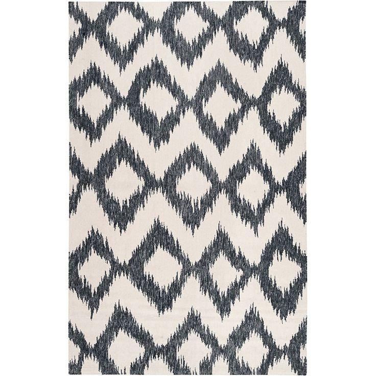black and white diamond rug. black and white ikat rug by surya diamond