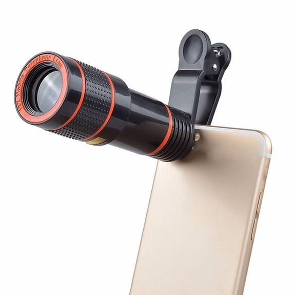 Clip On 12x Optical Zoom Phone Lens Best Mobile Phone Camera Lens