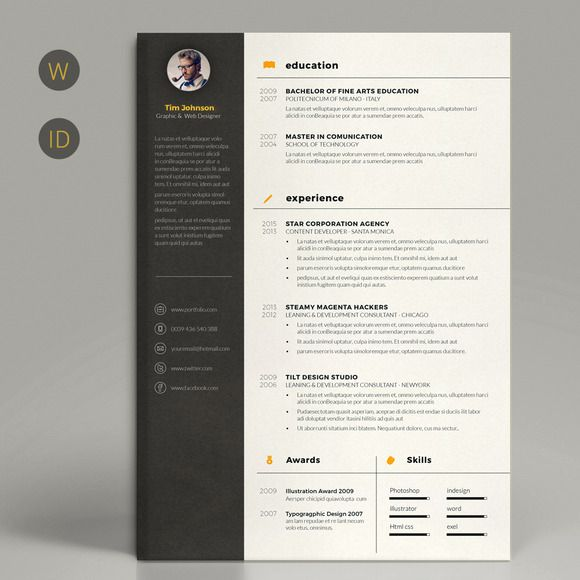 61 best resume images on Pinterest Resume templates Resume