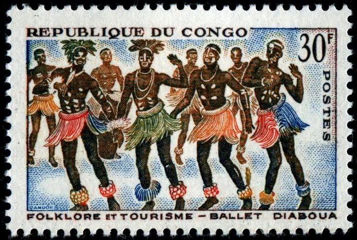 1964 República del Congo-Folclor y Turismo-Ballet Diaboua