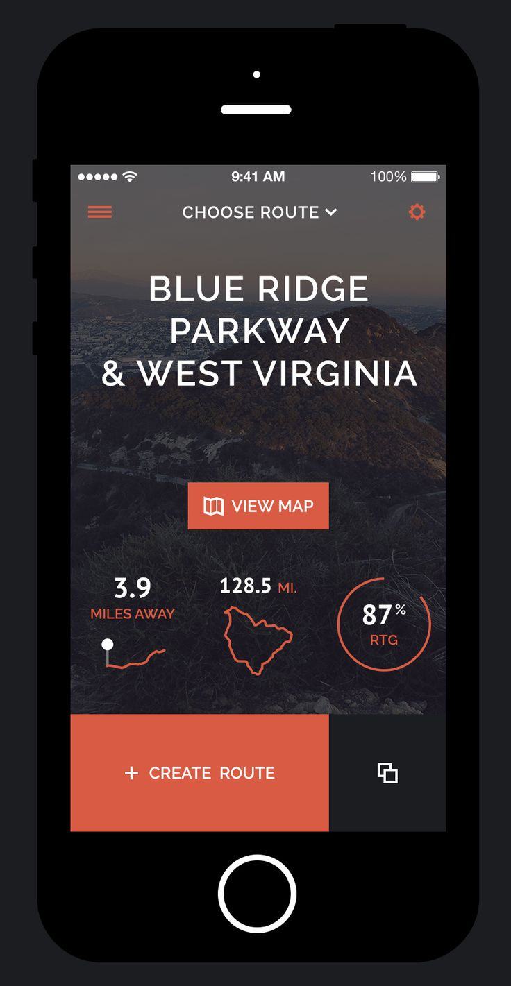 Excursion Route Chooser Mobile App | User Interface Design #UI