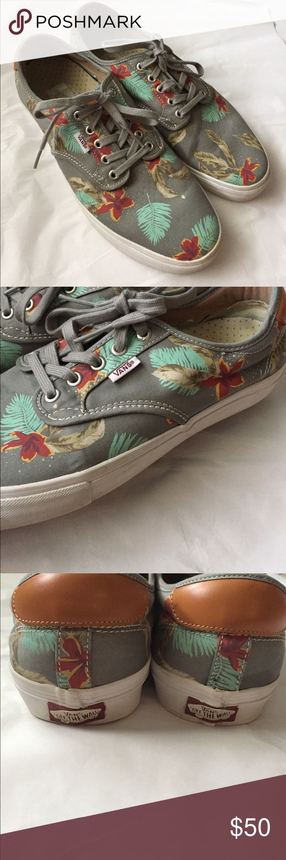 VANS Chima Ferguson! Mens! Vans Ultra Cush! Chima Ferguson Sydney! Gray with a sea print! Size 10.5! Great condition! Very comfortable! Rare style! Vans Shoes Sneakers