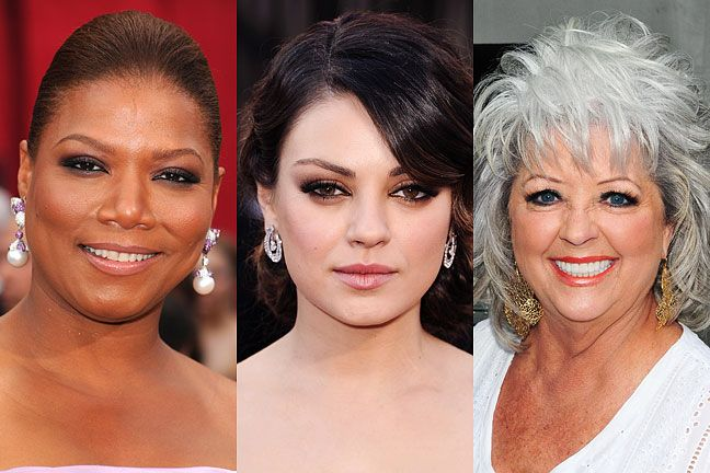 The best haircuts and makeup for celebrities with round faces.