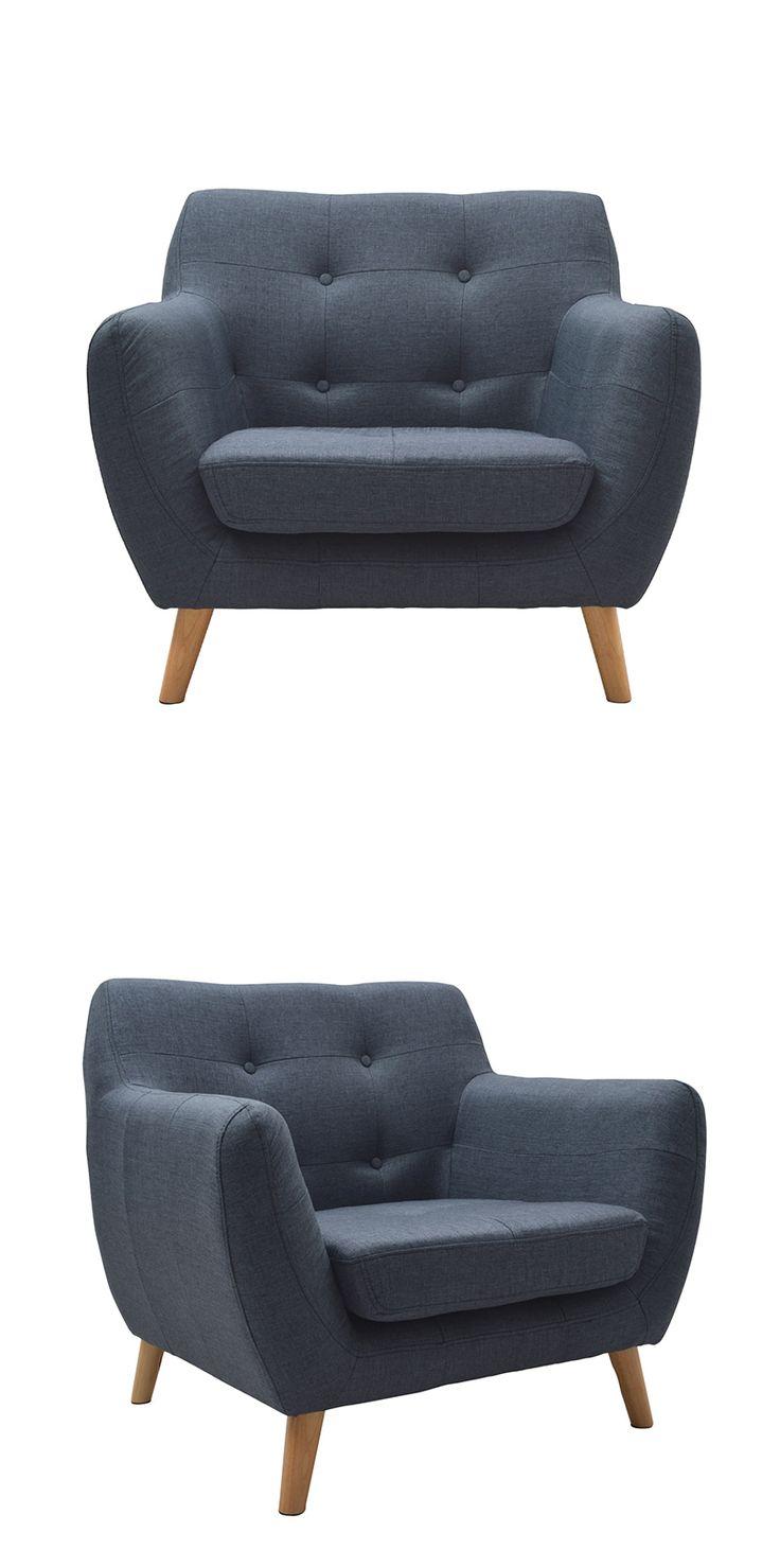 Sill n vintage azul jean 209 50 sof s y sillones - Sillones vintage retro ...