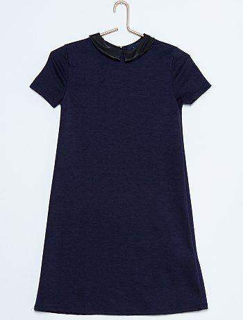 Robe maille milano col claudine Fille adolescente à 15,00€ - Découvrez nos collections mode à petits prix dans notre rayon Robe.