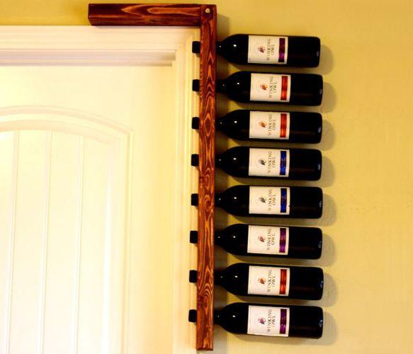 Creative DIY wine rack.