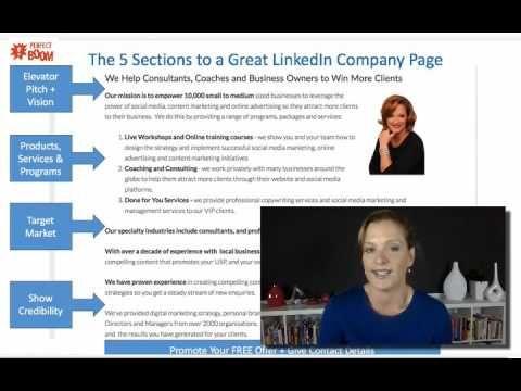 Linkedin - How to set up a company page for Linkedin