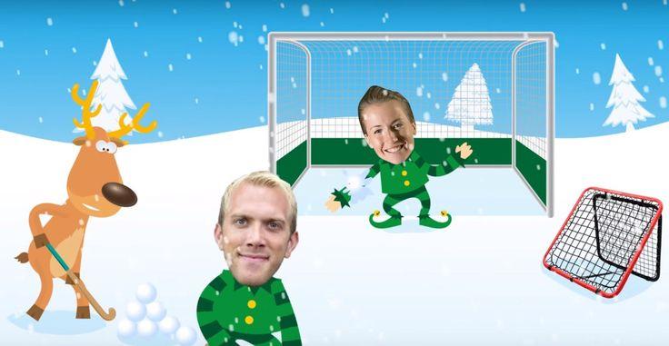 The most Hockey-Christmacy cartoon ever! Maddie Hinch, Davey Harte and a reindeer! • A Hockey World