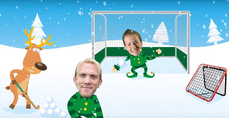 The most Hockey-Christmacy cartoon ever! Maddie Hinch, Davey Harte and a reindeer! • A Hockey World