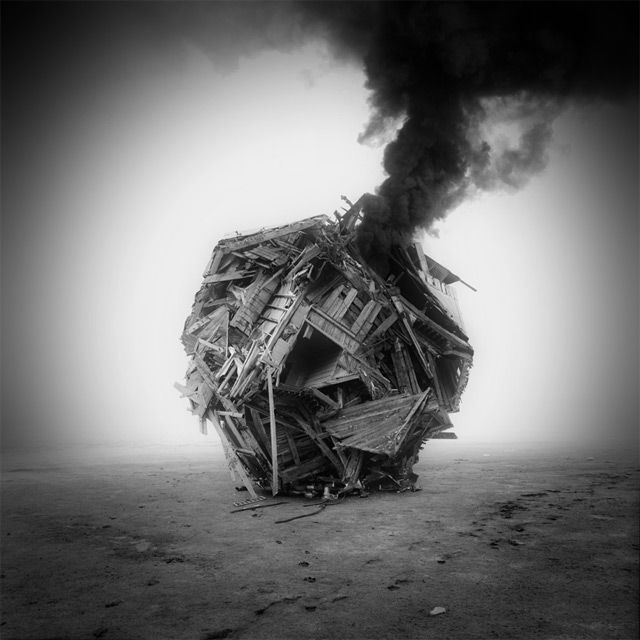 Mysterious Buildings Assembled from Found Photographs by Jim Kazanjian