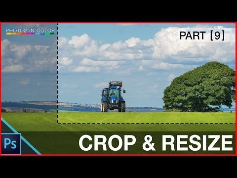How to resize and crop images in photoshop CC - Photoshop Crop Tool Tutorial - YouTube