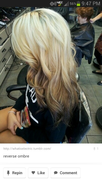 Reverse ombre close to what I am thinking of doing.