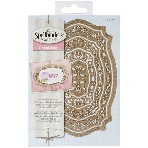 Spellbinders Nestabilities Dies - Adorning Labels 25
