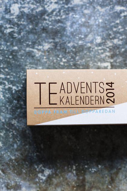 Te-adventskalendern är precis vad den låter som; en adventskalender med 24 olika sorters lösviktste. En ny sort varje dag fram till jul! Produkten är ekologisk och KRAV-märkt. Läs mer och shoppa på hemsidan; www.teadventskalendern.se