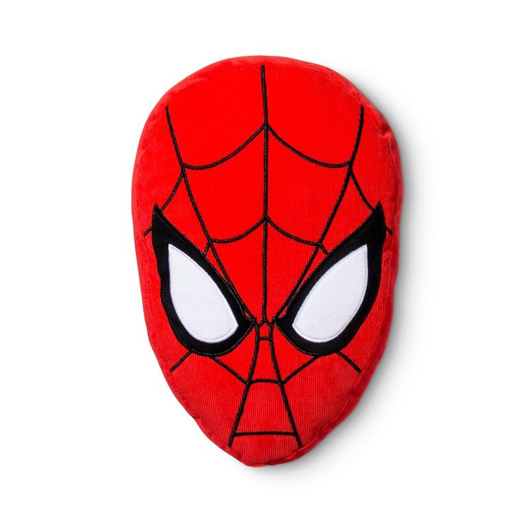 "Spider-Man Face Red Throw Pillow (10""x14"")"