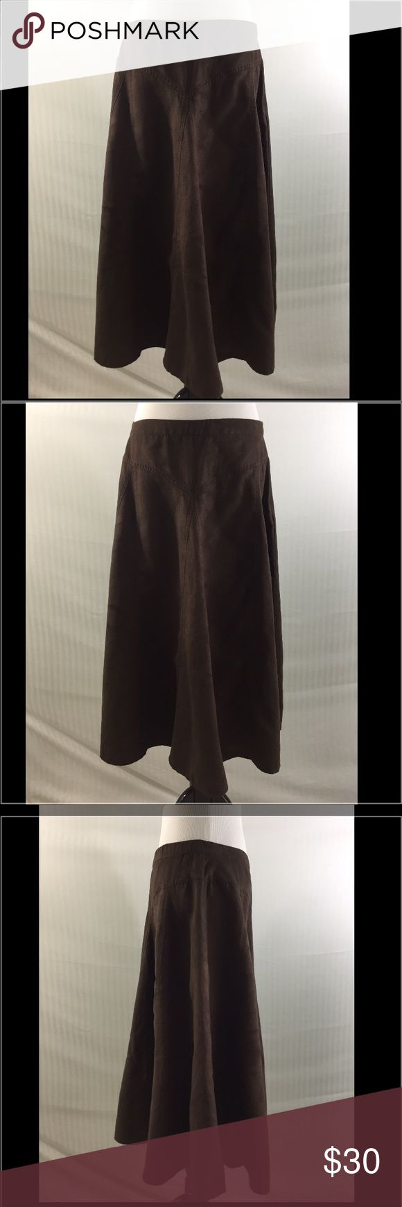 Coldwater Creek NWT Medium Brown Skirt Coldwater Creek NWT Size Medium Brown Crinkle Faux Chamois Skirt Coldwater Creek Skirts