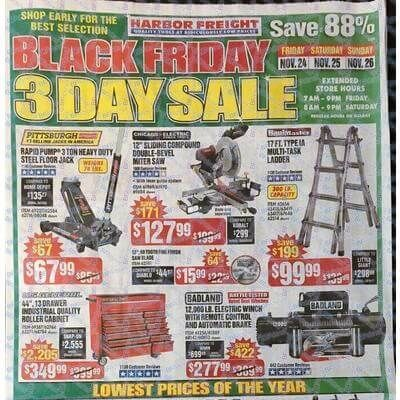 View the Harbor Freight Black Friday 2017 Ad with Harbor Freight deals and sales