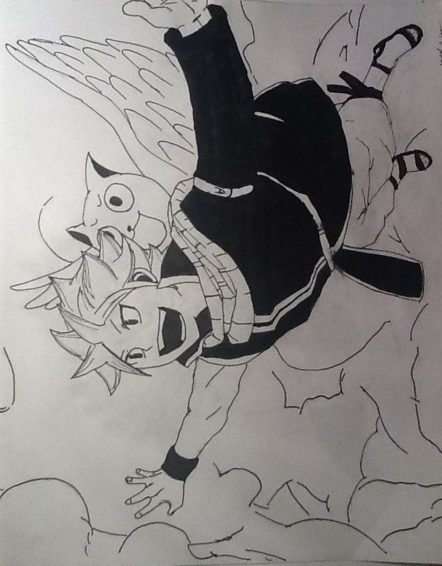 It's supposed to look weird...I guess? Natsu from Fairy Tail again.