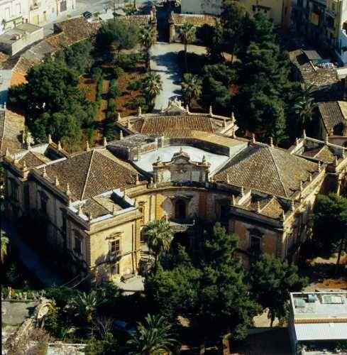 Aerial view of Villa Palagonia, Bagheria, Palermo, Sicily.