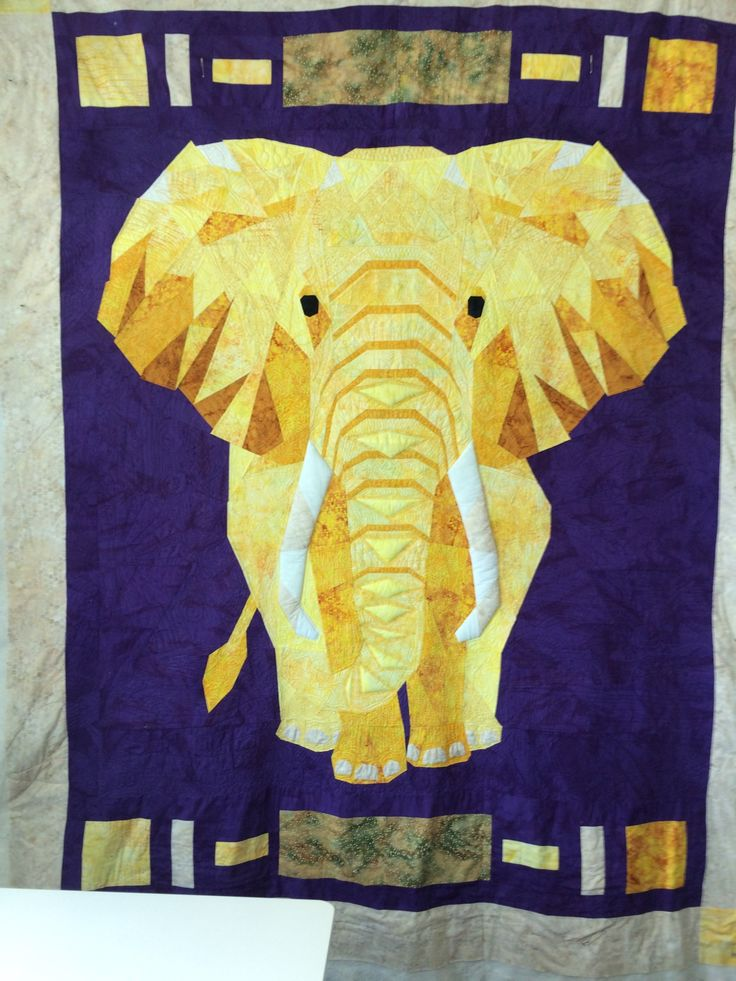 Violercraft Elephant quilted on the sweet sixteen