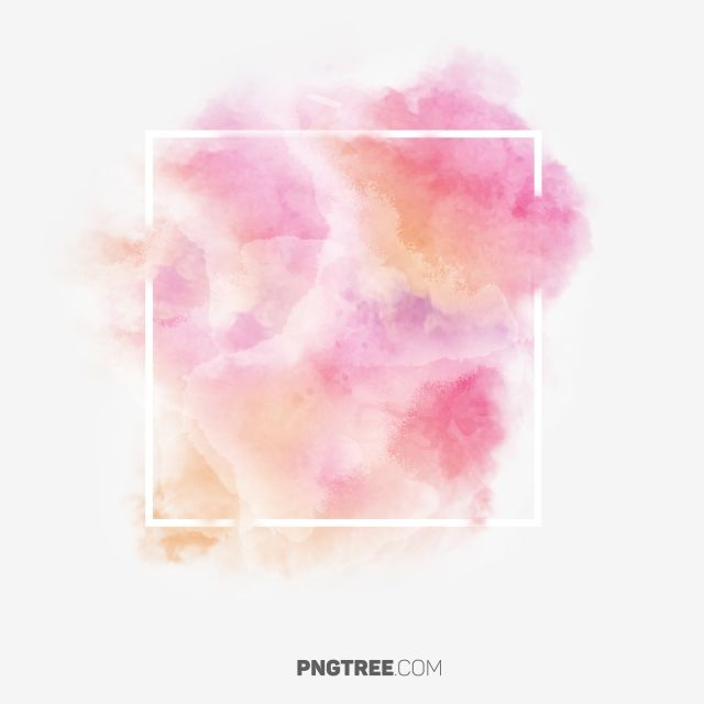 Pink Pastel Watercolor Pastel Square Png Transparent Clipart